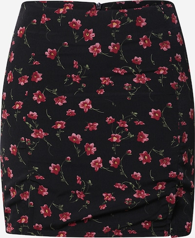 Daisy Street Jupe 'KAYA' en vert foncé / rose / rose / noir, Vue avec produit