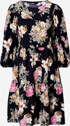 ONLY Kleid 'ZILLE' in beige / nachtblau / rosa / weiß, Produktansicht