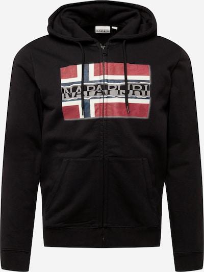 NAPAPIJRI Zip-Up Hoodie 'BENCH' in Navy / Grey / Red / Black / White, Item view