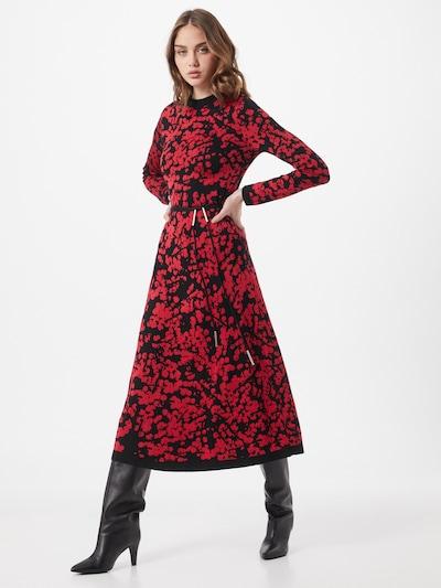 HUGO Šaty 'Sinthia' - červená / černá: Pohled zepředu
