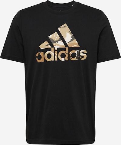 ADIDAS PERFORMANCE T-Shirt fonctionnel en noisette / kaki / noir / blanc, Vue avec produit