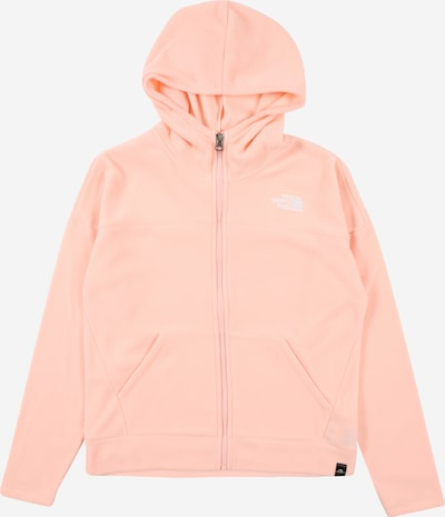 THE NORTH FACE Sportsweatjacke 'GLACIER' in rosa / weiß, Produktansicht