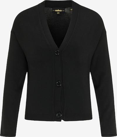 usha BLACK LABEL Strickjacke in schwarz, Produktansicht