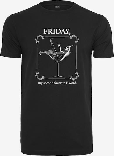 Merchcode T-Shirt in schwarz / weiß, Produktansicht