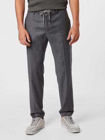 Pantaloni cu dungă 'Genius' BOSS pe gri închis, Vizualizare model