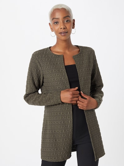 ONLY Strickjacke 'IBBI' in dunkelgrün, Modelansicht