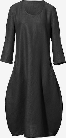 Anna Aura Leinenkleid mit 3/4-Arm in schwarz, Produktansicht