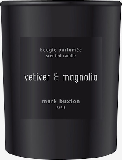 Mark Buxton Perfumes Duftkerze 'Vetiver & Magnolia' in hellgrau / schwarz, Produktansicht