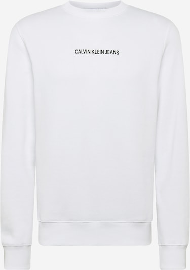 Bluză de molton Calvin Klein Jeans pe alb, Vizualizare produs