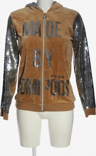 POMPÖÖS Jacket & Coat in S in Brown / Silver, Item view