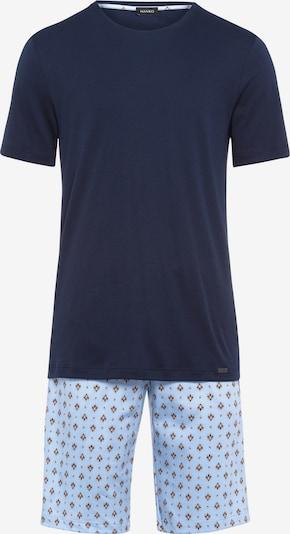 Hanro Kurzarm Pyjama ' Night & Day ' in blau, Produktansicht