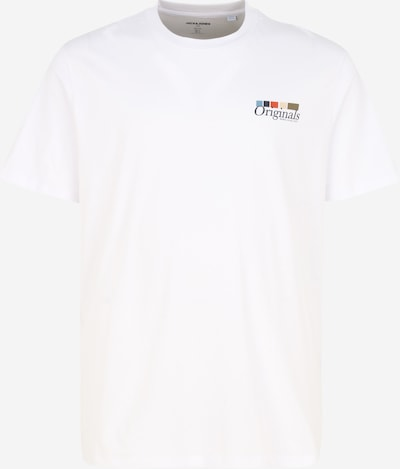 Jack & Jones Plus T-Krekls 'CLAY', krāsa - balts, Preces skats