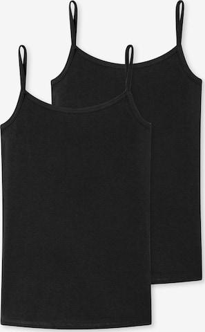 SCHIESSER Unterhemd in Schwarz