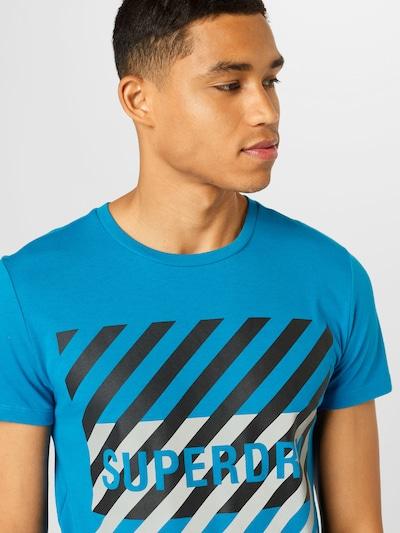 Superdry Tehnička sportska majica u kraljevsko plava / crna / bijela, Pregled proizvoda