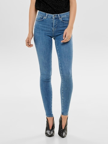 ONLY Jeans 'ONLPower Mid Push Up Skinny Fit' in Blauw
