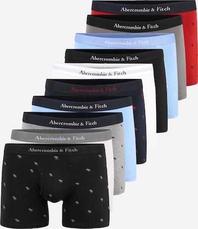 Abercrombie & Fitch Boxershorts in de kleur Lichtblauw / Donkergrijs / Rood / Zwart / Wit, Productweergave