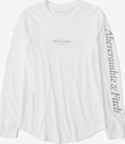 Abercrombie & Fitch Shirt in de kleur Stone grey / Wit, Productweergave