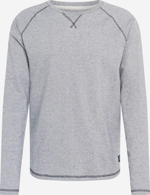 Lichtgrijze trui ronde hals jersey regular fit Tom Tailor