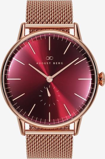 August Berg Uhr 'Serenity Burgundy Eye 40mm' in rosegold / rot, Produktansicht