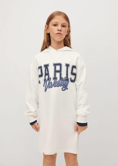 MANGO KIDS Рокля 'Paris' в нейви синьо / тъмносиньо / бял меланж: Изглед отпред