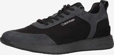 Calvin Klein Jeans Baskets basses en gris argenté / noir / blanc, Vue avec produit