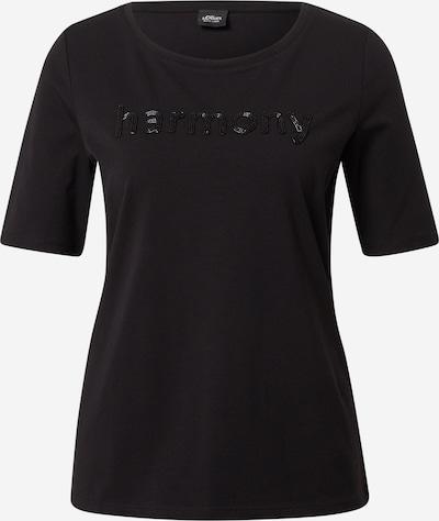 s.Oliver BLACK LABEL Тениска в черно, Преглед на продукта