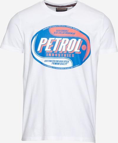Petrol Industries T-Shirt in blau / hellrot / weiß, Produktansicht