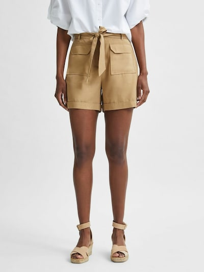 SELECTED FEMME Pants 'Taylor' in Light brown, View model