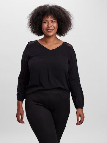 Vero Moda Curve Bluse 'Beatrix' in Schwarz