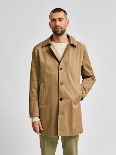 SELECTED HOMME Abrigo de entretiempo en beige, Vista del modelo