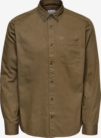 Camicia 'Bryce' di Only & Sons in verde