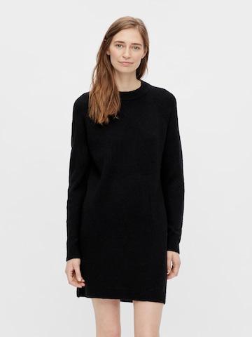 Robes en maille 'Chapa' PIECES en noir