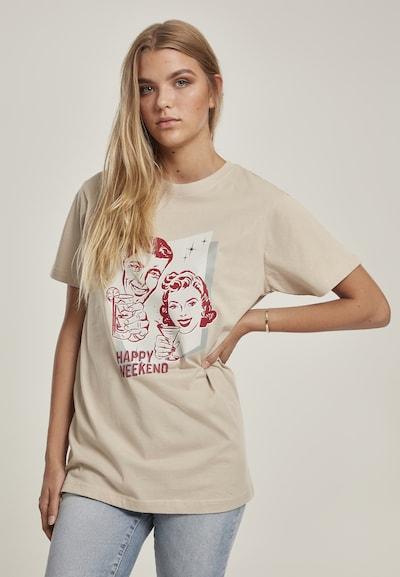Merchcode T-shirt en beige / mélange de couleurs: Vue de face