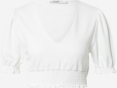 NA-KD Shirt 'Nina Houston' in de kleur Wit, Productweergave