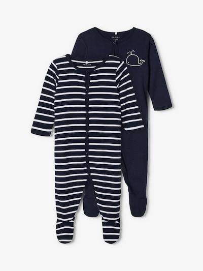 NAME IT Schlafanzug in nachtblau / weiß, Produktansicht