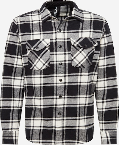 REPLAY Button Up Shirt in Black / White, Item view