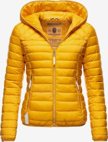 NAVAHOO Between-Season Jacket 'Ich Bin Hübsch' in Yellow