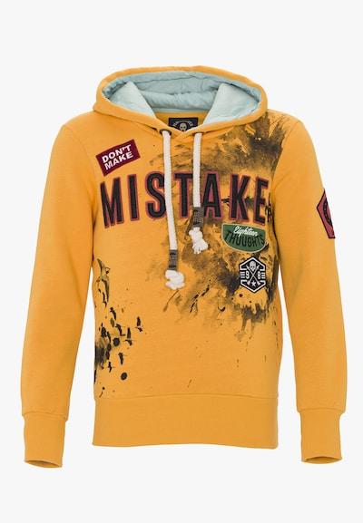 PLUS EIGHTEEN Pullover in gelb / hellgrau / dunkelgrau / weiß, Produktansicht