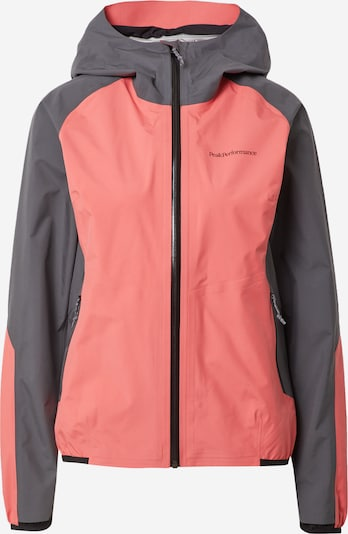 PEAK PERFORMANCE Outdoor jacket in Dusty blue / Fuchsia, Item view
