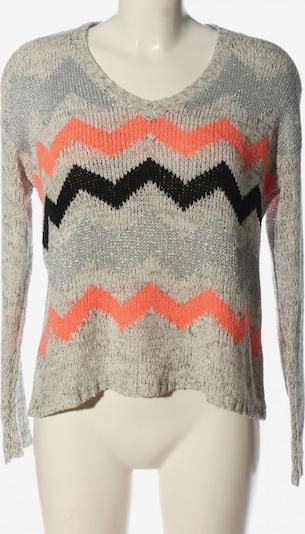 MINKPINK V-Ausschnitt-Pullover in M in hellgrau / hellorange / schwarz, Produktansicht