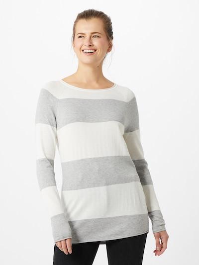 VERO MODA Pullover 'Nellie  Glory' in graumeliert / weiß, Modelansicht