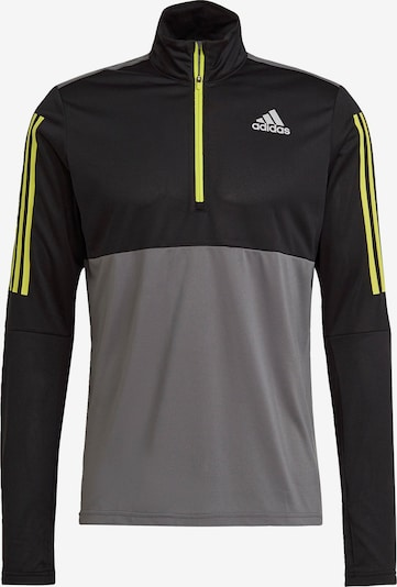 ADIDAS PERFORMANCE Sweatshirt 'Own The Run' in gelb / grau / schwarz / weiß, Produktansicht