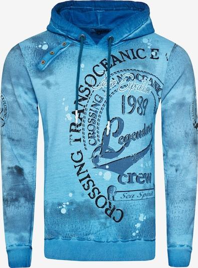 Rusty Neal Sweatshirt mit Streetwear Front Print in petrol, Produktansicht