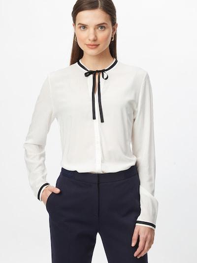 HUGO Bluse 'Eshima' in schwarz / weiß, Modelansicht
