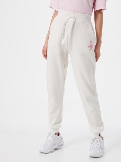 Pantaloni 'Kaja' VIERVIER pe offwhite, Vizualizare model