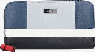 TOM TAILOR Geldbörse in blau / nachtblau / grau / weiß, Produktansicht