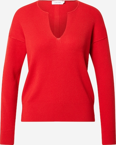 Calvin Klein Пуловер в червено / черно, Преглед на продукта