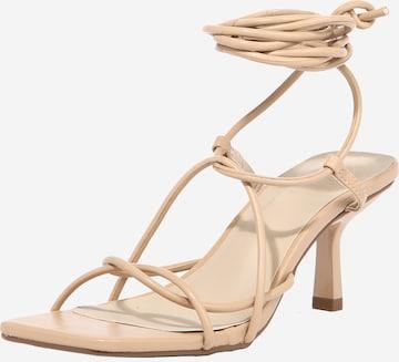 Missguided Sandale in Beige