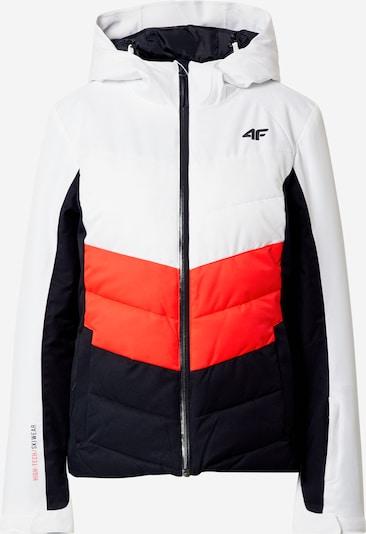 4F Jacke in dunkelblau / orangerot / weiß, Produktansicht