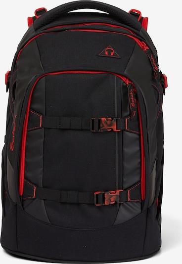 Satch Rucksack in rot / schwarz, Produktansicht